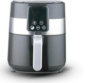 American Micronic- AMI-AF1-35CLDx- 3.5 Liters 1500 Watts Digital Imported Air Fryer (Silver & Black) Upgraded 2020 Model