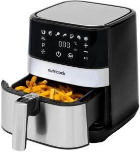 Nutricook Rapid Air Fryer - 5.5Ltr, 1700W, Stainless Steel