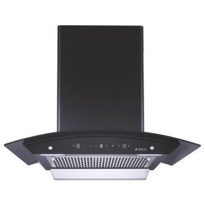 Elica 60 cm 1200 m3 hr Filterless Auto Clean Chimney (WDFL 606 HAC MS NERO, Motion Sensor Control, Black)