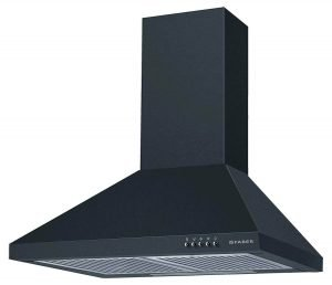 Faber 60 cm 800 m³HR Pyramid Kitchen Chimney (HOOD CONICO PLUS BF BK 60, 2 Baffle Filters, Black)