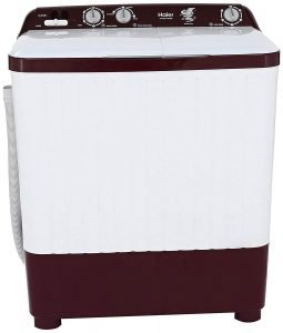Haier 6.2 kg Semi-Automatic Top Loading Washing Machine (HTW62-187BO, Burgundy)