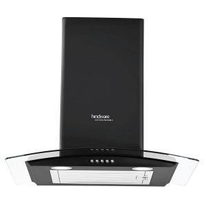 Hindware 60cm 1100 m3 hr Chimney (Sabina Black 60, 1 Baffle Filter, Black)