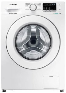 Samsung 8 kg Inverter Fully-Automatic Front Loading Washing Machine (WW80J4243MW TL, White, Inbuilt Heater, Eco Bubble)