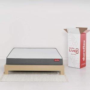 Duroflex Livein - Anti Microbial Fabric 6 Inch Queen Size Memory Foam Mattress