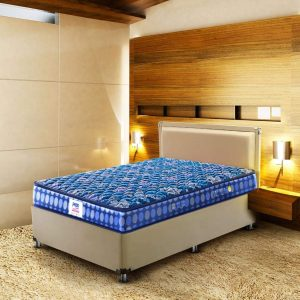Peps Springkoil Bonnell 6-inch Single Size Spring Mattress (Dark Blue, 75x36x06) with Free Pillow