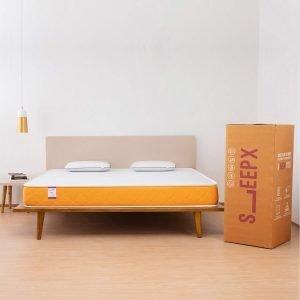 SleepX Dual Comfort Mattress- Medium Soft & Hard (Orange, 78x72x5)