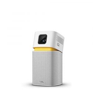 BenQ GV1 Smart, Stylish, Portable LED Projector DLP in-Built Battery WiFi Hotspot Wireless Display Bluetooth Speaker Unique Tilt Hinge Auto Key Stone 100 Projection Image USB-C