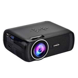 Everycom X7 (1080p Support) LED Projector 1800 Lumen Large 120-inch Display Projection with HDMI + VGA + Aux + USB Connectivity - (Black)