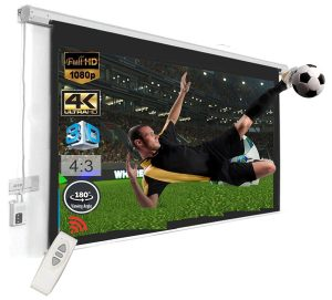 Inlight 120 inches Diagonal, UHD-3D-4K Ready Technology Motorised Projector Screen